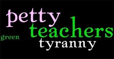 Teachers: the New Green Police