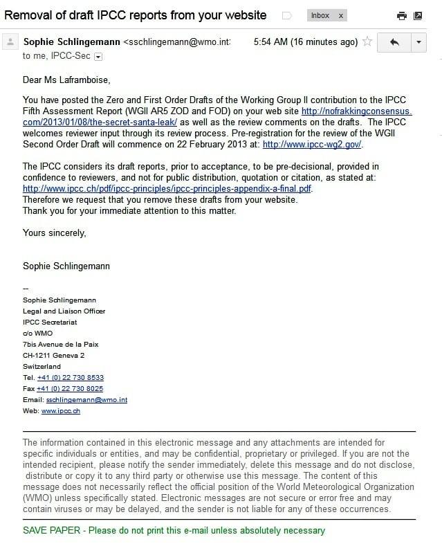 IPCC Legal Notice