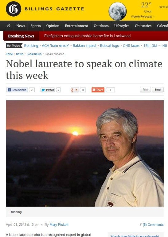 A Few Crumbs of Pastry: More Nobel Nonsense