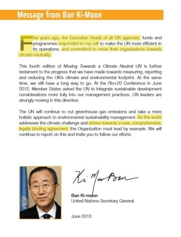 Proof the UN Doesn't Believe There's a Climate Crisis