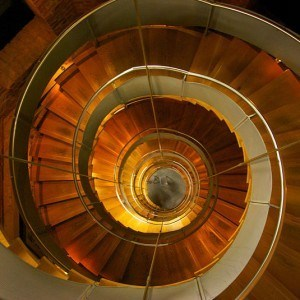 The spiral staircase at the Lighthouse in Mitchell Lane, Glasgow - Photo by George Gastin