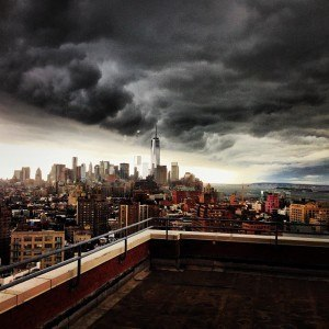 Ominous Clouds - Photo posted on Instagram by annekejong