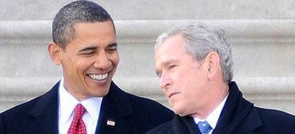 Bush: See How Easy It Was, To Roll Them Up? Obama: Well, You Decided All, I'm Just In Love.