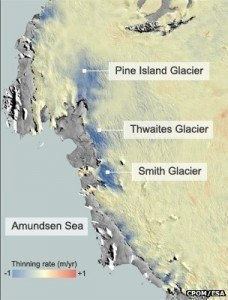 Actually Observing Glaciers Thinning
