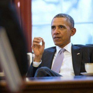 Barack Obama Discusses Strategy With National Security Staff - Public Domain