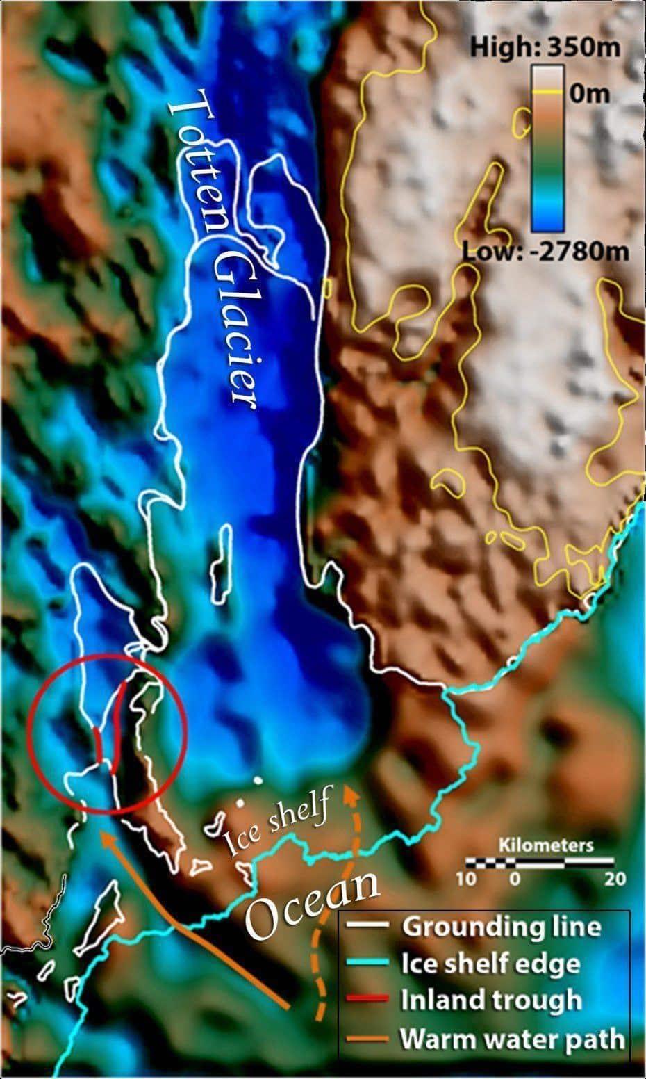 East Antarctica Melting