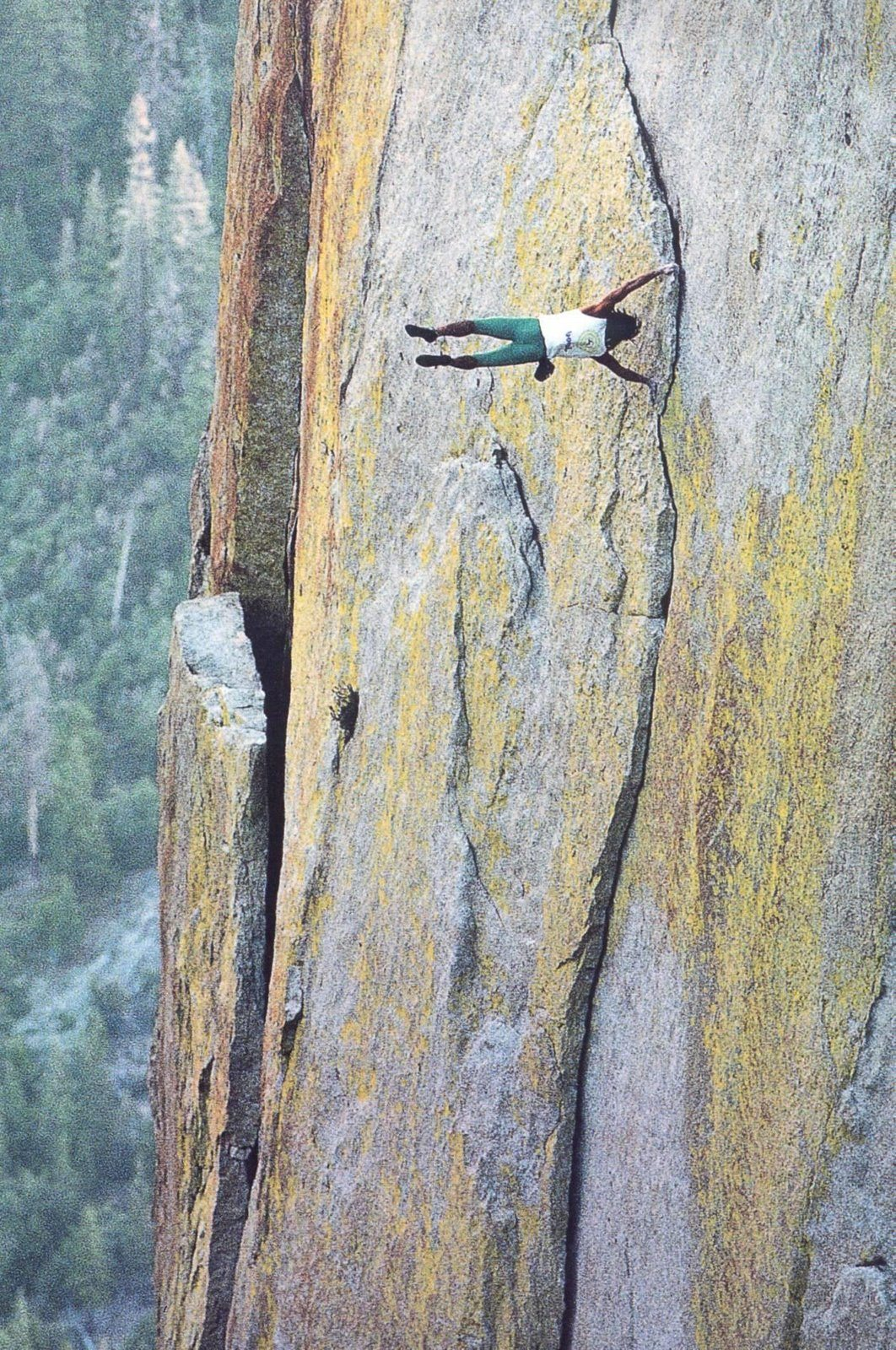 My Friend John Bachar Free Soloing, Showing Off. Fell To His Death, Free Soloing