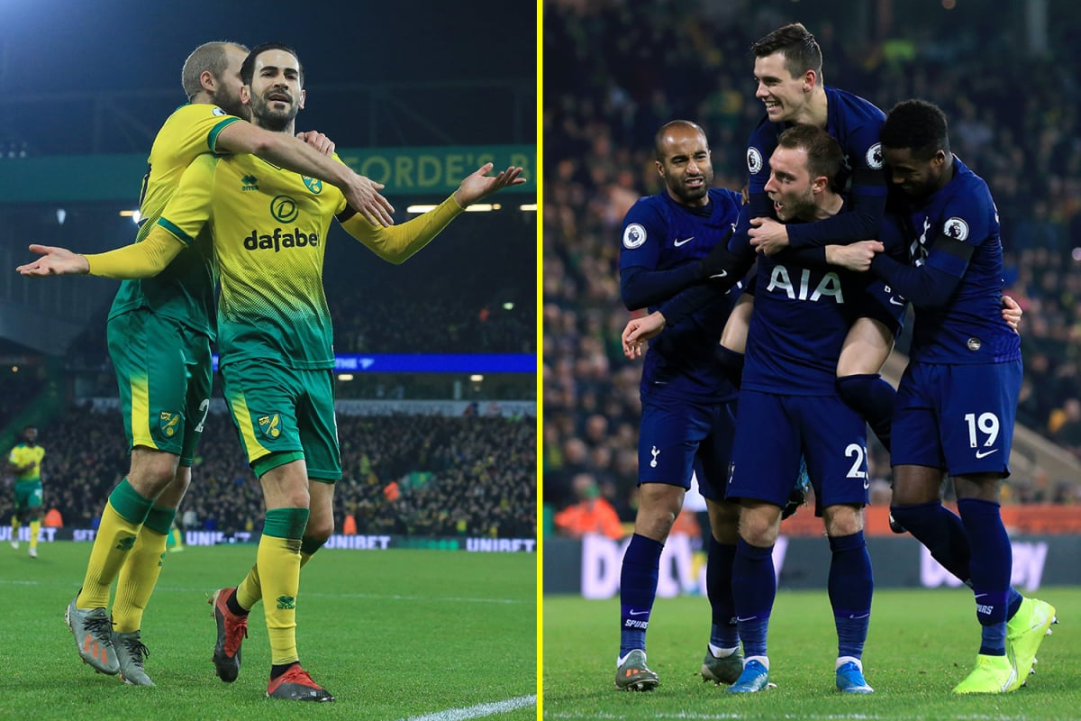 Tottenham come from behind twice to beat bottom-of-the-table Norwich City as VAR controversially chalks off
