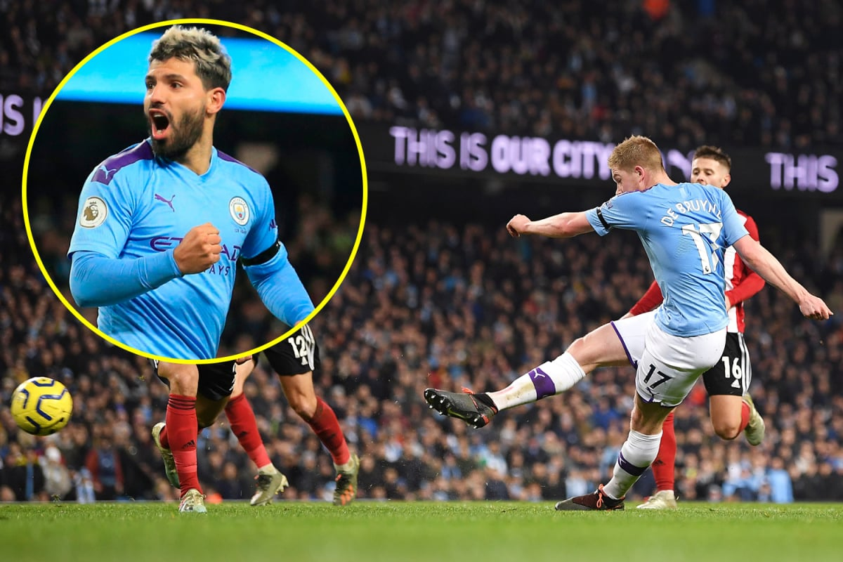Sergio Aguero and Kevin de Bruyne strike in second-half as Man City breeze past Sheffield United