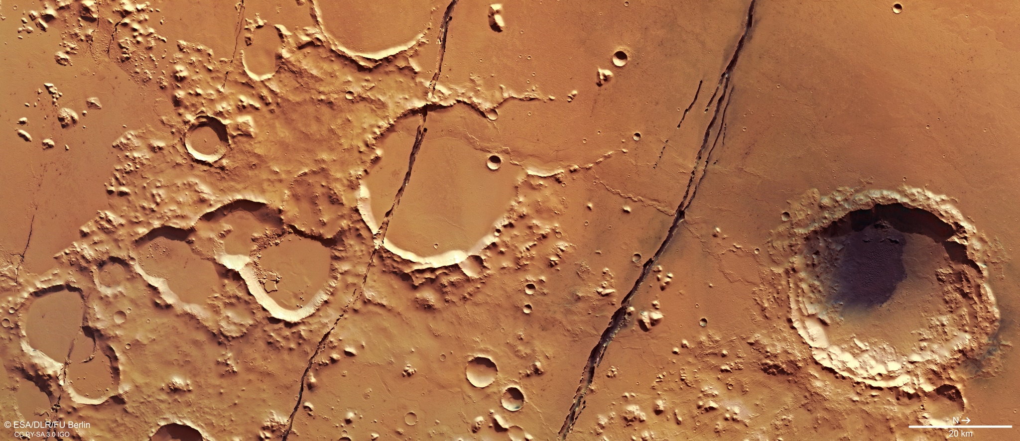 First active fault zone found on Mars