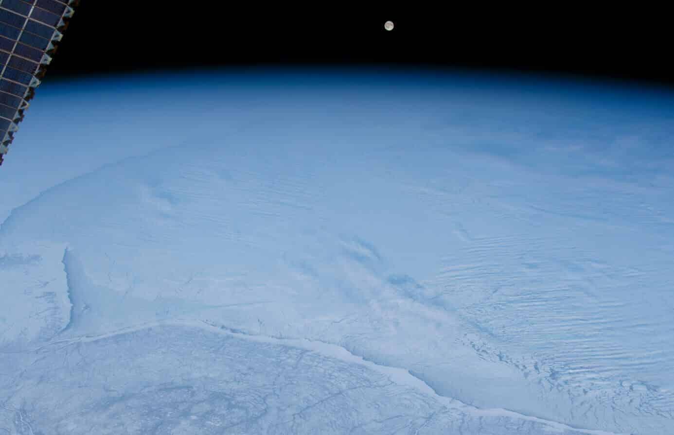 NASA image reveals 'otherworldly' moonrise over frozen Canada