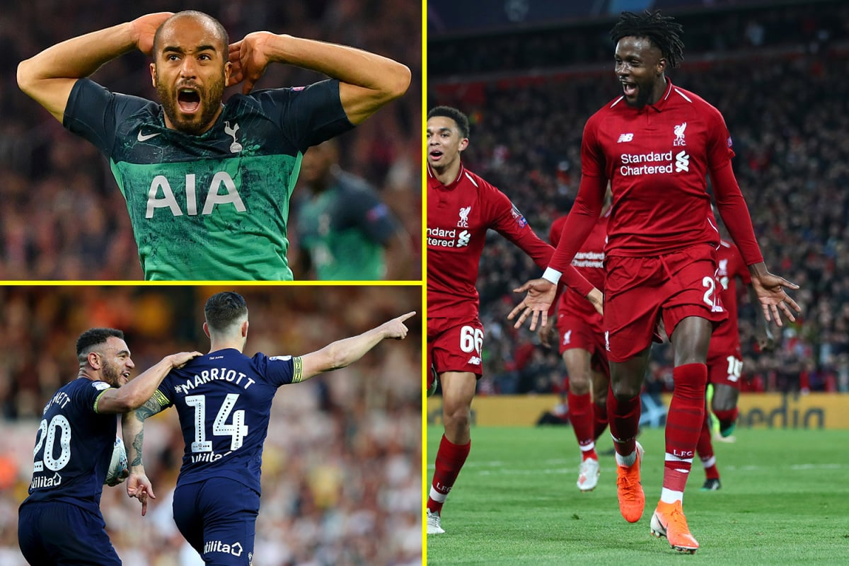 Liverpool's Barcelona miracle, Tottenham and Man City's Champions League epic, and Derby's revenge over Leeds