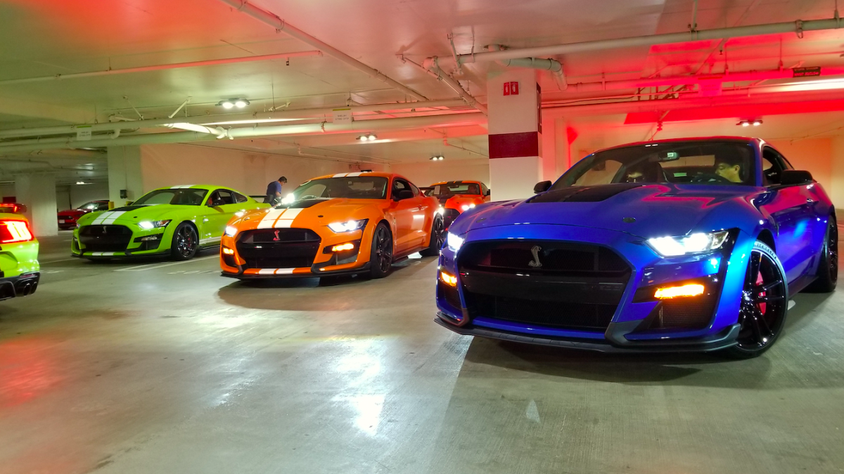 Ford Stuffed 20,000 HP Worth Of Ford Mustangs Into An Echoey LA Parking Garage And The Sound Was Unbelievable