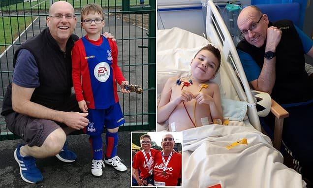 Glamorgan man saves life of his son, 8, by donating his kidney to a stranger who gave his to boy