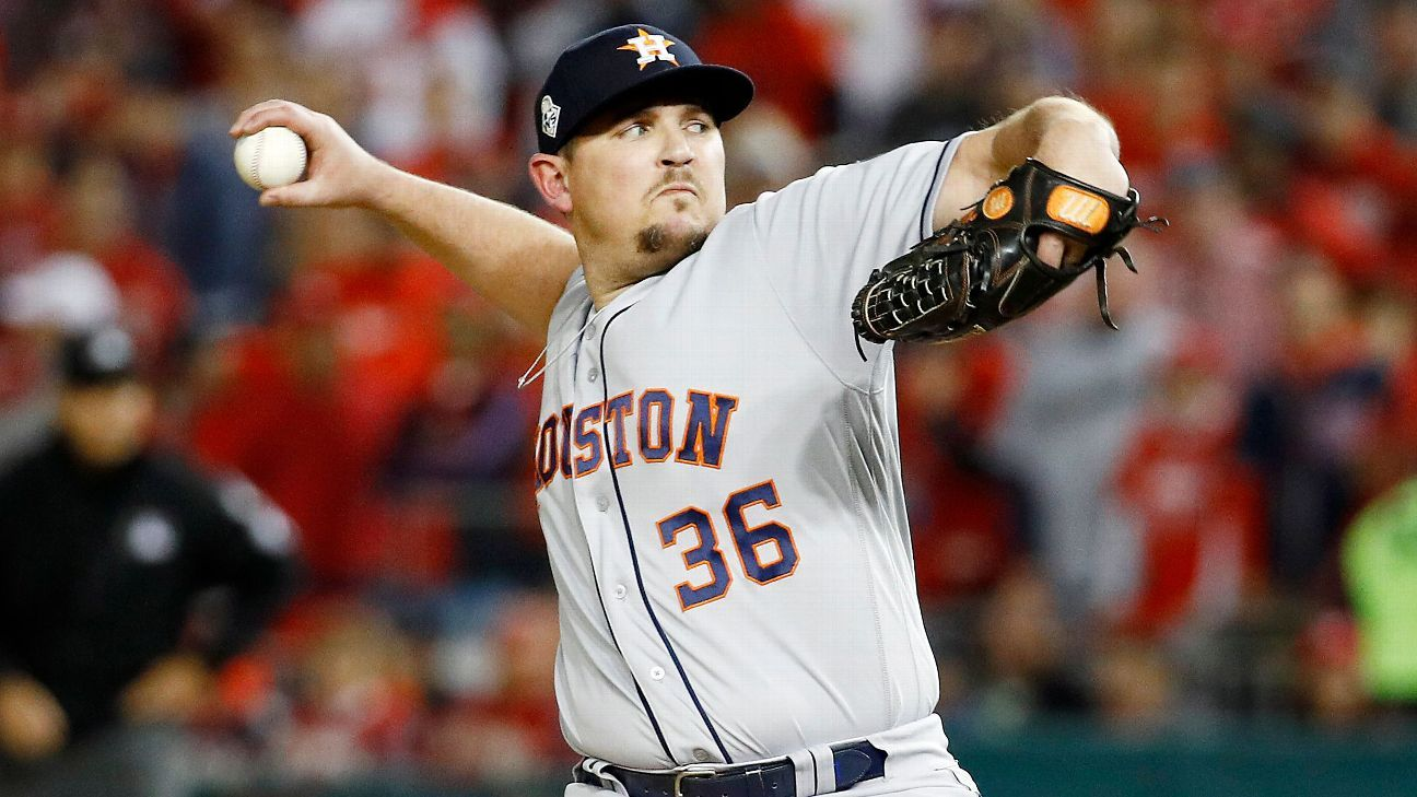 Source: Ex-Astros reliever Harris headed to Nats