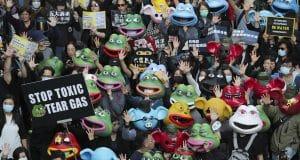 Anti-establishment views unite, divide Hong Kong protesters