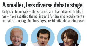 Rougher shoving likely in last Democratic debate before Iowa