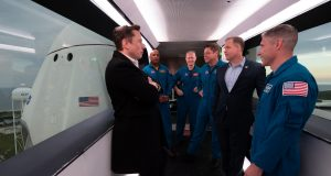 Elon Musk says first SpaceX launch with NASA astronauts likely between April and June