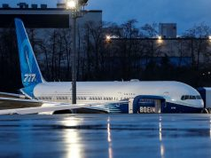 Boeing's 777X, the world's largest twin-engine jet, takes off in maiden flight