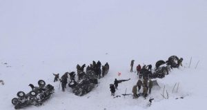 Avalanche in Turkey wipes out rescue team; 17 dead overall