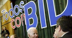Biden in Vegas takes on Sanders' gun votes in fiery speech