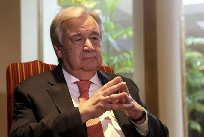 AP Interview: UN chief says new virus poses 'enormous' risks