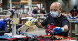 Manufacturing falls sharply in April, but not by as much as expected
