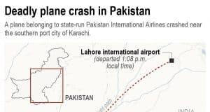 Pakistan jet with 98 aboard crashes come Karachi airport