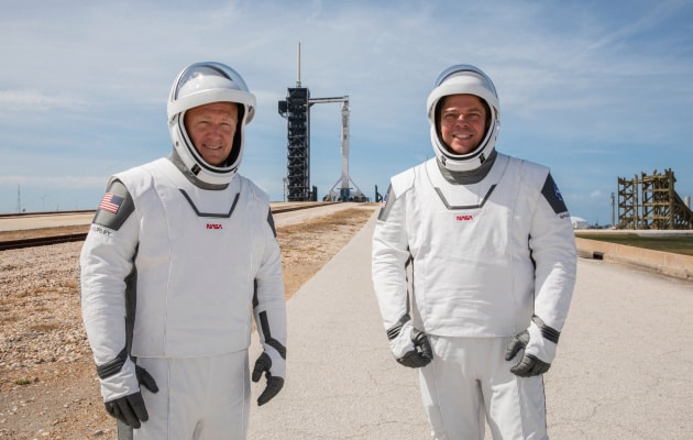 Up finish with the new fresh spacesuits astronauts will quickly wear in orbit for the foremost time